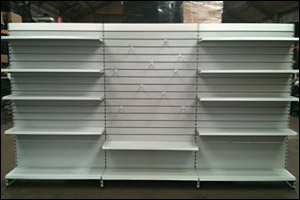 Second hand shop shelving