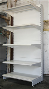 Shop shelving, second hand shelving, used shop shelving